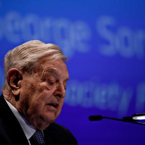 George Soros speaks at conference