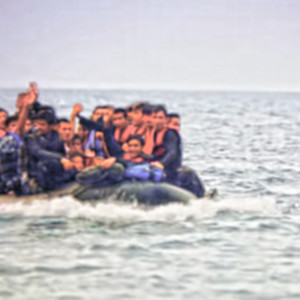 Migrants arrive to Europe on lifeboat