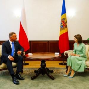 Polish President Andrzej Duda met with Moldovan President Maia Sandu in Cisinau