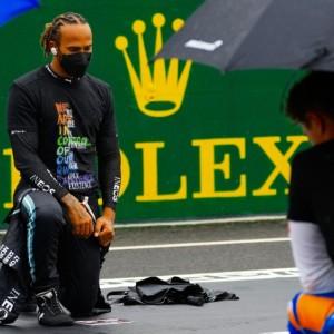 Lewis Hamilton at Hungarian GP