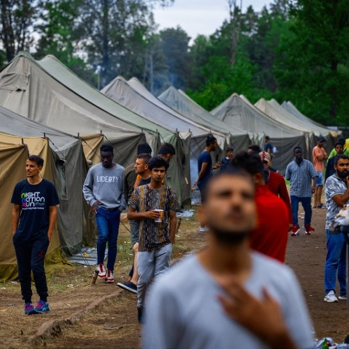 Poland Afghanistan aid migrants