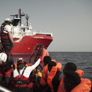 Ocean Viking migrants