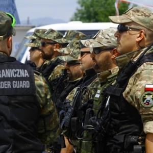 Poland Belarus border illegal migrants Polish Border Guard