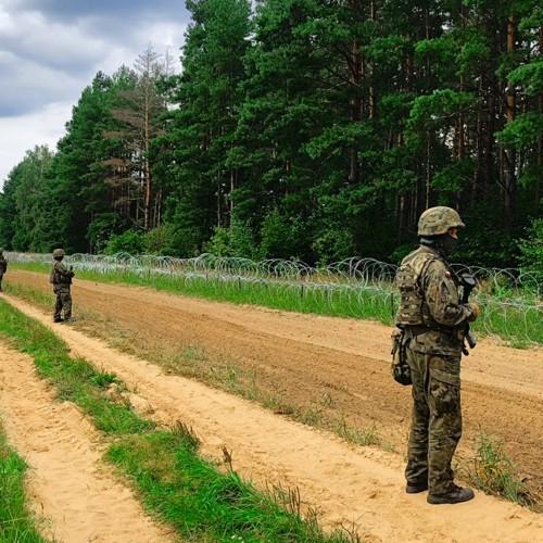 Polish-Belarussian border security fence illegal migrants
