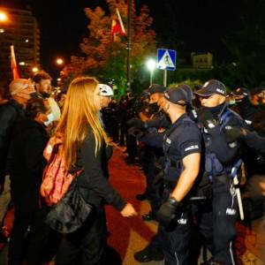 media law, pro-TVN protests, Warsaw Poland