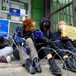 illegal migrants Poland Belarus protest