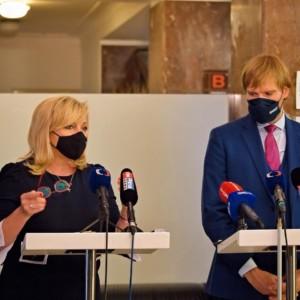 Ministers of Finance and Health Alena Schillerová and Adam Vojtěch