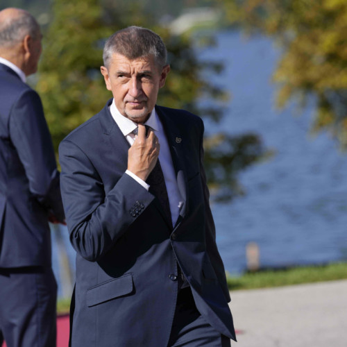 Czech PM Andrej Babiš at the Bled Strategic Forum in Slovenia