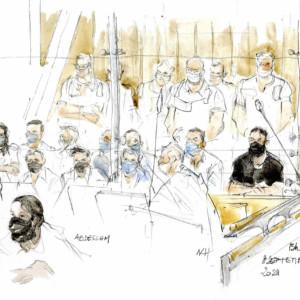 Terrorist attacks in Paris, Salah Abdeslam, trial with terrorists