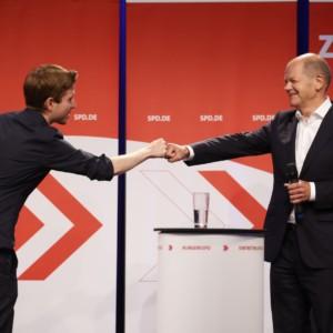 Kevin Kühnert, Olaf Scholz, SPD, Germany, elections
