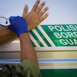Polish-Border-Guard Belarus illegal migrants