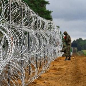 Border fence Polish-Belarusian border