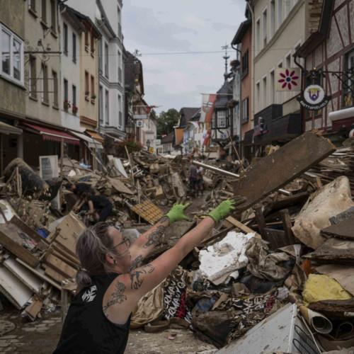 Floods, looting
