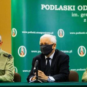 Kaczynski-Polish-Belarussian border Białysto source MSWiA