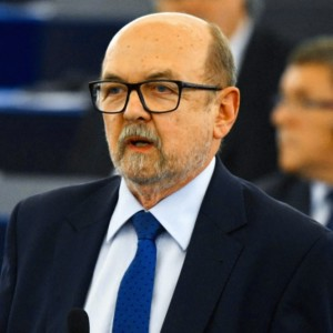 Ryszard Legutko, MEP, during his speech in the European Parliament