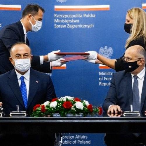 Zbigniew Rau Mevlüt Çavuşoğlu Poland Turkey Polish FM